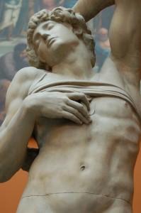 O escravo moribundo, de Michelangelo.