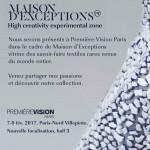 Natural Cotton Color pela segunda vez na Maison D'Exceptions, salão especial para trabalhos artesanais e inovadores na Premiére Vision Paris.