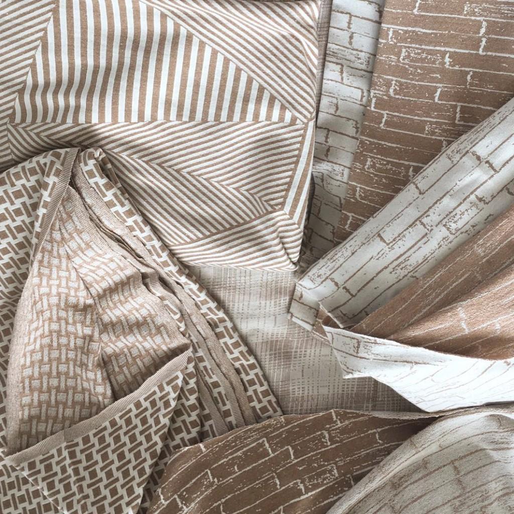 Jacquard em algodão colorido desenvolvido pelo SENAI-SP para a Natural Cotton Color.